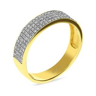 Pierścionek zaręczynowy obrączka z diamentami nr VE 8717-1 LINE