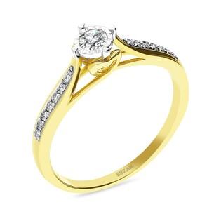 Pierścionek zaręczynowy AMADO z diamentami KU 51980 próba 585
