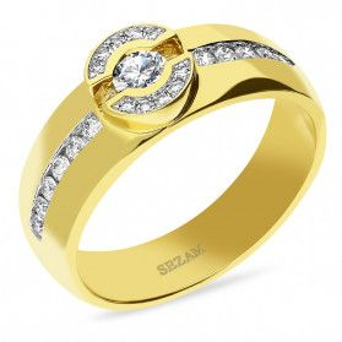 Pierścionek zaręczynowy z diamentami nr KU 390