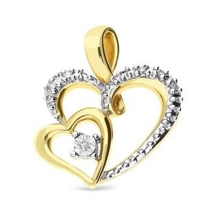 Zawieszka złota z diamentami w kształcie serca nr RQ 107MP próba 585