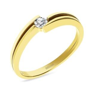 Pierścionek zaręczynowy ROYAL Magic z diamentem nr DI 8-05 próba 585 MARIAGE