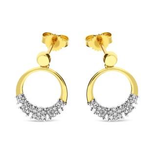 Kolczyki złote z diamentami  nr KU 102064-103119