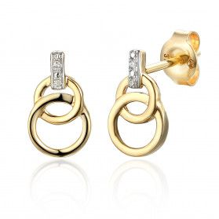 Kolczyki złote z diamentami nr AW 65980 Y S