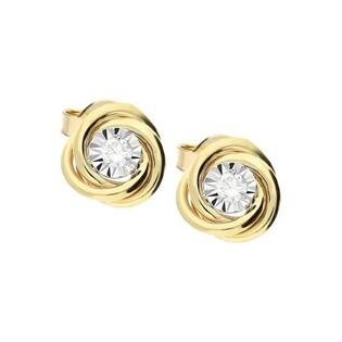 Kolczyki z diamentami MAGIC/sztyft nr RO AE107 próba 585
