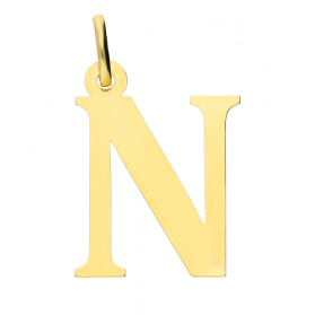 Literka złota N do zawieszenia BC-N próba 585