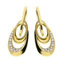 Kolczyki złote krople/zatrzask nr. AR HCE206123-YW-FCZ próba 585