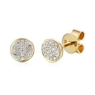 Kolczyki złote kółka wysadzane brylantami nr AW 66697 Y-05793 Y 14 karat