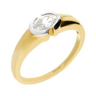 Pierścionek złoty z cyrkonią nr DJ PREMIUM48-007M próba 585