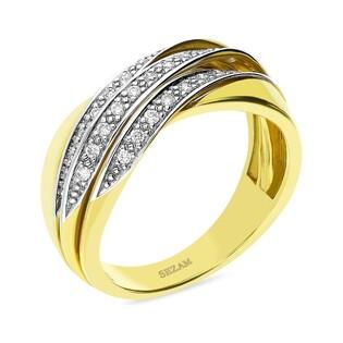 Pierścionek zaręczynowy z diamentami DUBAJ nr BU 536710 ze złota 375