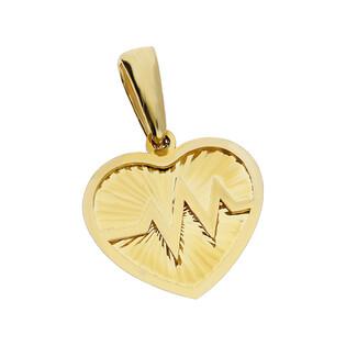 Serduszko złote z pulsem nr MZ T23-P-0218-29-LZ próba 585