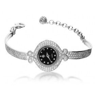 Zegarek srebrny okrągły zakręcony nr AT Z0025-1