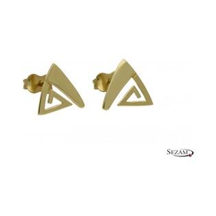Kolczyki złote trójkąt numer AR 11827-GW Au 333