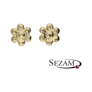 Kolczyki złote dla dziecka nr MZ E44 próba 585