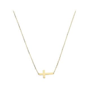 Naszyjnik złoty krzyżyk/anker nr MZ T23-N-LZ-19 próba 585