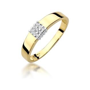 Pierścionek zaręczynowy WENUS z diamentami nr BE W-417 próba 585 ELEGANCE