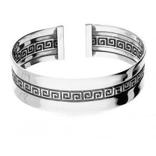 Bransoleta srebrna bangle z wzorem grecki nr SZ003-1 próba 925