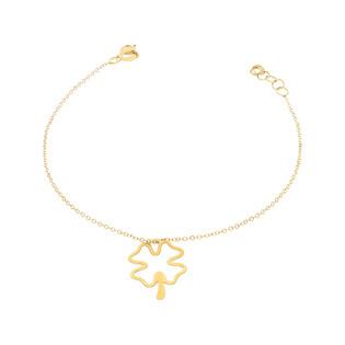 Bransoleta złota koniczyna z łodygą nr BC055 próba 585