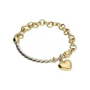 Bransoleta damska złota 585 z sercem nr OP11-1