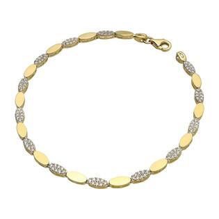 Bransoleta złota z cyrkoniami nr PF013-B próba 585