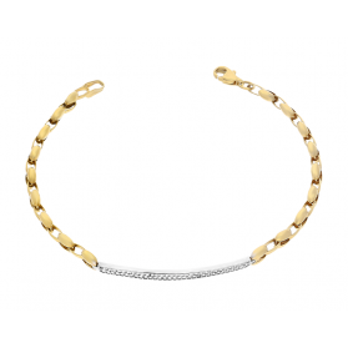 Bransoleta złota blaszka z cyrkoniami nr AR 202343-YW-FCZ próba 333