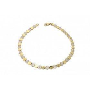 Bransoleta złota damska z cyrkoniami nr PF PF09-B próba 585