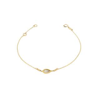 Bransoleta złota labladoryt w kulkach nr AR KR(X4-X6)FOR6B0826-IV-DC-LBD próba 333