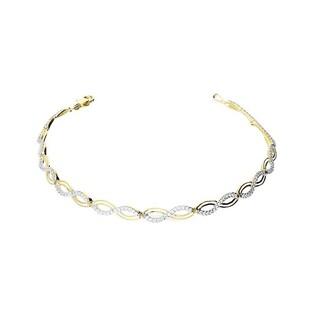 Bransoleta złota infinity z cyrkoniami nr AR VX6-VX6ZB200038-YW Au 585