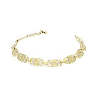 Bransoleta złota ażurowa dwukolorowa nr AR 505870-YW Au 333
