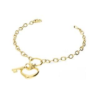 Bransoleta złota serce z kluczykiem nr AR 5737 Au 585