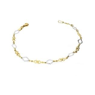 Bransoleta złota dwukolorowa ażurowa nr AR 206057-YW-DC Au 333