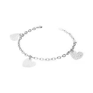 Bransoleta srebrna serca dwustronne wiszące RT BR24874 rod próba 925