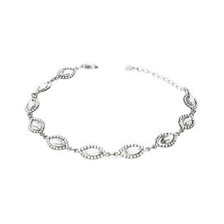 Bransoleta srebrna GRACE z kryształami Swarovski RD 3 741-1 crystal próba 925