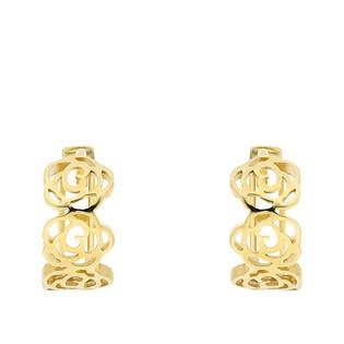 Kolczyki złote kółka z różami/zatrzask AR XXNHUE1791 próba 375