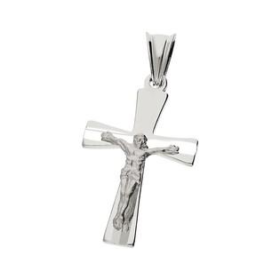 Krzyżyk srebrny z wizerunkiem Jezusa nr MV GKD057 rod próba 925