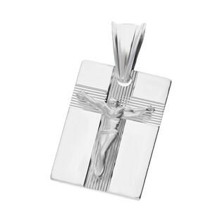 Medalik srebrny blaszka Pan Jezus na krzyżu nr MV GMD106 rod próba 925