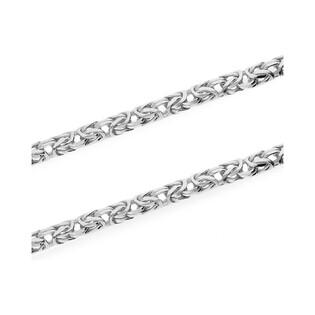 Łańcuszek srebrny o splocie królewskim nr BC 1380-080 4l próba 925