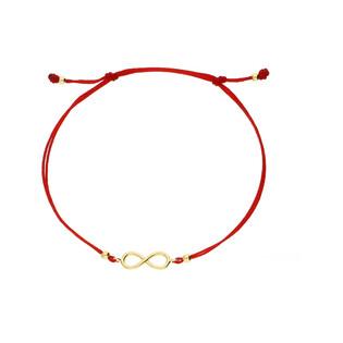 Bransoletka złota sznurkowa symbol nieskończoności infinity nr LP 34U25-B0012-Y-R-IP próba 585