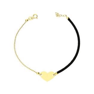 Bransoletka złota sznurkowa z symbolem serca nr GF GS99-3 próba 585