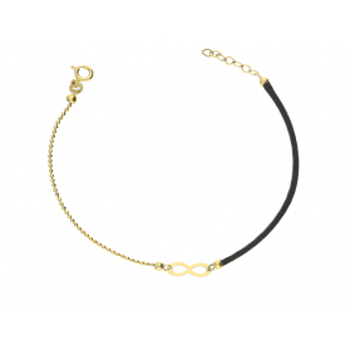 Bransoletka złota sznurkowa z symbolem nieskończoności nr GF GS99 próba 585