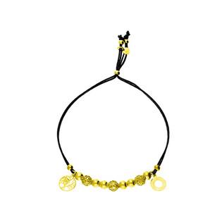 Bransoleta srebrna sznurkowa kulki z ażurowym drzewem i oponką nr. PW 96-1G czarny sznurek próba 925