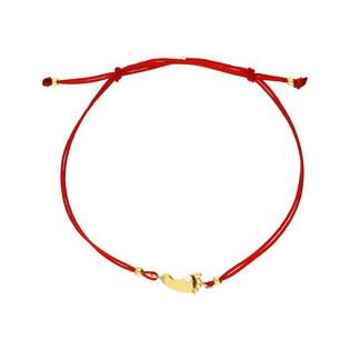 Bransoletka złota sznurkowa symbol stópki nr LP 34U25-B0049-Y-IP próba 585