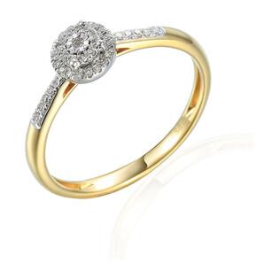 Pierścionek zaręczynowy ze złota z diamentami Mirage bis-0,11ct AW 77472 YW próba 585