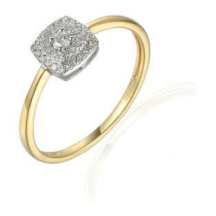 Pierścionek złoty z diamentami 0,15ct AW 45732 YW próba 585 SWEET