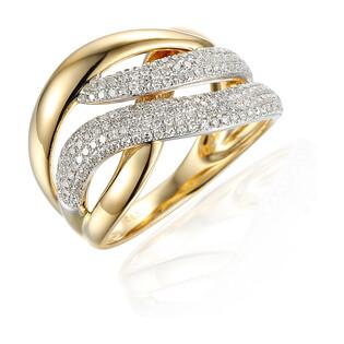 Pierścionek z diamentami Dubaj 0,45ct AW 47274 YW próba 585