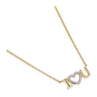 Naszyjnik złoty z diamentami I Love You AW 03632 Y próba 585