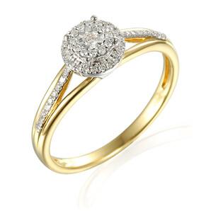 Pierścionek zaręczynowy SWEET bis z diamentami AW 55167 YW próba 585