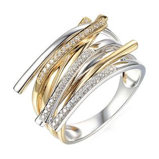Pierścionek zaręczynowy DUBAJ z diamentami nr AW 68391 YW próba 585