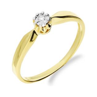 Pierścionek zaręczynowy z diamentem ROYAL Magic GR DI t156-05 próba 585