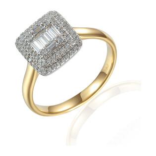 Pierścionek złoty z diamentami Wiktorii AW 59279 Y próba 585