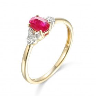 Pierścionek zaręczynowy z rubinem AW 59732 Y rubin bis próba 585